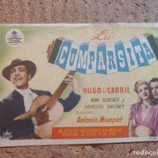 Cine: FOLLETO DE MANO DE LA PELÍCULA LA CUMPARSITA. Lote 253943425
