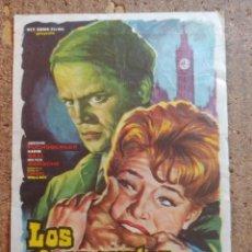 Folhetos de mão de filmes antigos de cinema: FOLLETO DE MANO DE LA PELÍCULA LOS HOJOS MUERTOS DE LONDRES. Lote 253943515