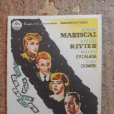 Cine: FOLLETO DE MANO DE LA PELÍCULA DE NOCHE TAMBIEN SE DUERME. Lote 253943620