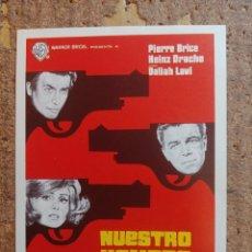 Cine: FOLLETO DE MANO DE LA PELÍCULA NUESTRO HOMBRE EN VIENA. Lote 253943770