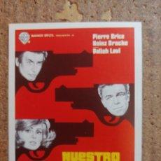 Cine: FOLLETO DE MANO DE LA PELÍCULA NUESTRO HOMBRE EN VIENA. Lote 253943775