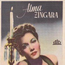 Cine: ALMA ZINGARA .- MARIA MONTEZ. Lote 253955355