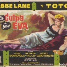 Cine: LA CULPA FUE DE EVA .- JOSE GUARDIOLA. Lote 253961730