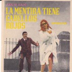 Cine: LA MENTIRA TIENE CABELLOS ROJOS .- ANALIA GADE. Lote 253971980