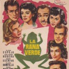 Cine: LA RANA VERDE .- ELENA ESPEJO. Lote 253972765