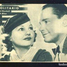 Cine: PROGRAMA DE CINE EL SOLITARIO. TARJETA. Lote 254032050