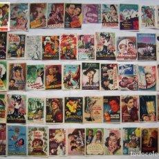 Foglietti di film di film antichi di cinema: 50 PROGRAMAS SURTIDOS. LOTE Nº S-49 (26 CON IMPRESIÓN EN EL REVERSO).. Lote 254059620