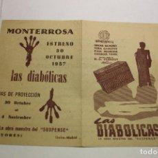 Cine: PROGRAMA LOCAL LAS DIABOLICAS. Lote 254061095