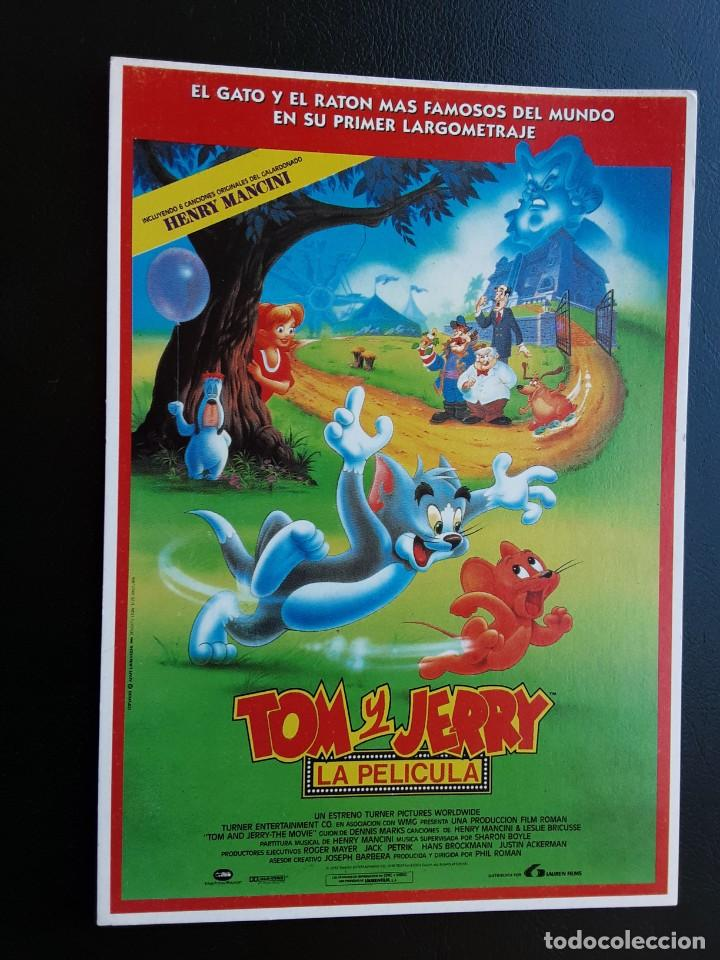 TOM Y JERRY LA PELÍCULA, TARJETA POSTAL (Cine - Folletos de Mano - Infantil)