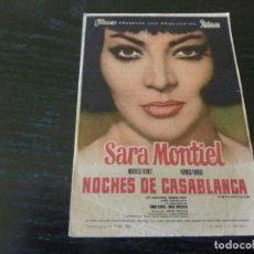 Cine: PROGRAMA DE CINE IMPRESO EN LA PARTE TRASERA. Lote 254179685