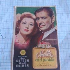 Cine: FOLLETO DE MANO NIEBLA EN EL PASADO AÑO 1947 CINE ASTORIA. Lote 254180210