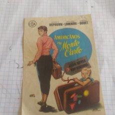 Cine: FOLLETO DE MANO AMERICANOS EN MONTE CARLO. Lote 254199065