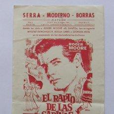 Flyers Publicitaires de films Anciens: PROGRAMA DE CINE EL RAPTO DE LAS SABINAS. Lote 254202825