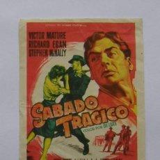Cine: PROGRAMA DE CINE SABADO TRAGICO. Lote 254205410