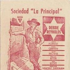 Cine: SOLA ANTE EL PELIGRO (CON PUBLICIDAD). Lote 254273800