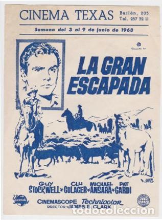 LA GRAN ESCAPADA (CON PUBLICIDAD) (Cine - Folletos de Mano - Westerns)