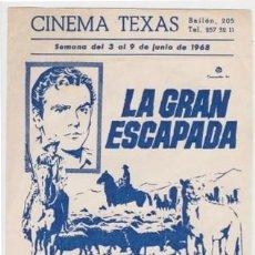 Cine: LA GRAN ESCAPADA (CON PUBLICIDAD). Lote 254273980
