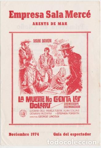 LA MUERTE NO CUENTA LOS DÓLARES (CON PUBLICIDAD) (Cine - Folletos de Mano - Westerns)