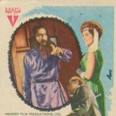 Foglietti di film di film antichi di cinema: RASPUTIN. Lote 254453580