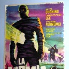 Cine: PROGRAMA FOLLETO MANO CINE - LA MOMIA - CHRISTOPHER LEE - REX ZARAGOZA - ANTIGUO 1960. Lote 254551285