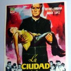 Cine: PROGRAMA FOLLETO MANO CINE - LA CIUDAD DE LOS NIÑOS - MARTINEZ . CINE DORADO ZARAGOZA. ANTIGUO 1961. Lote 254559010