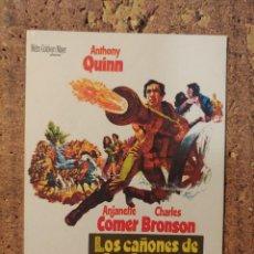 Cine: FOLLETO DE MANO DE LA PELICULA LOS CAÑONES DE SAN SEBASTIÁN. Lote 254567565