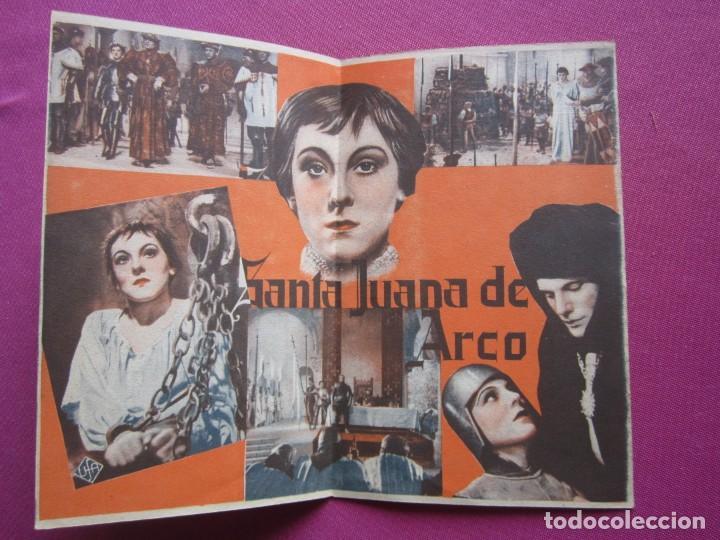 Cine: SANTA JUANA DE ARCO PROGRAMA DE CINE DOBLE AÑOS 30 , - Foto 2 - 254578510