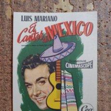 Cine: FOLLETO DE MANO DE LA PELICULA EL CANTOR DE MEXICO. Lote 254585295