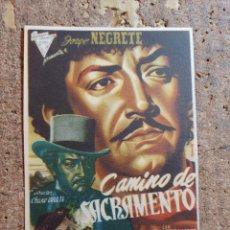 Flyers Publicitaires de films Anciens: FOLLETO DE MANO DE LA PELICULA CAMINO DE SACRAMENTO. Lote 254589525