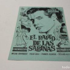Cine: PROGRAMA DE MANO LOCAL EL RAPTO DE LAS SABINAS. Lote 254612740