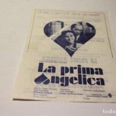 Cine: PROGRAMA DE MANO LOCAL LA PRIMA ANGELICA. Lote 254613045