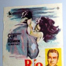 Foglietti di film di film antichi di cinema: PROGRAMA FOLLETO DE MANO CINE - RIO SALVAJE - ELIA KAZAN - CINE GOYA ZARAGOZA. ANTIGUO 1962. Lote 254616440
