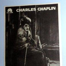 Foglietti di film di film antichi di cinema: PROGRAMA FOLLETO MANO CINE. LA QUIMERA DEL ORO CHARLES CHAPLIN CHARLOT. COSO ZARAGOZA. ANTIGUO 1960. Lote 254619540