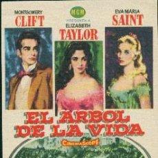 Flyers Publicitaires de films Anciens: EL ÁRBOL DE LA VIDA (CON PUBLICIDAD). Lote 254632305
