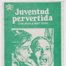 Cine: JUVENTUD PERVERTIDA (CON PUBLICIDAD). Lote 254632670
