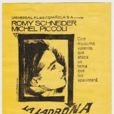 Foglietti di film di film antichi di cinema: LA LADRONA (CON PUBLICIDAD). Lote 254633505