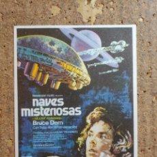 Folhetos de mão de filmes antigos de cinema: FOLLETO DE MANO DE LA PELICULA NAVES MISTERIOSAS. Lote 254654240