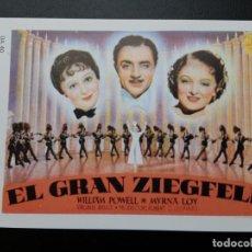 Flyers Publicitaires de films Anciens: EL GRAN ZIEGFELD WILLIAM POWELL IMPRESO EN LOS AÑOS 80. Lote 254816485