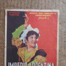 Cine: FOLLETO DE MANO DE LA PELICULA GOYESCAS CON PUBLICIDAD. Lote 254846655