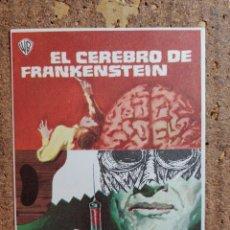 Cine: FOLLETO DE MANO DE LA PELICULA EL CEREBRO DE FRANKENSTEIN. Lote 254850735