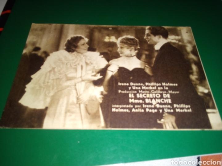 ANTIGUO PROGRAMA DE CINE CARTÓN. EL SECRETO DE M. BLANCHE. AÑOS 30 (Cine - Folletos de Mano - Comedia)