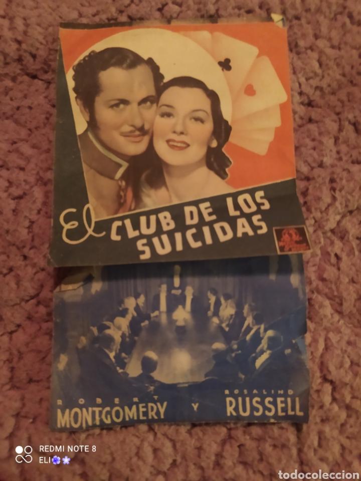 FOLLETO DE MANO DOBLE EL CLUB DE LOS SUICIDAS AÑO 1938 CINE ATENEU IGUALADI (Cine - Folletos de Mano - Drama)