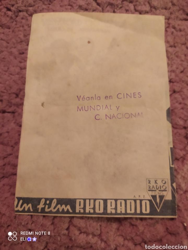Cine: Folleto de mano doble LA BELLA REBELDE , Gene Raymond , Ann Sothern , cine mundial - Foto 2 - 254990895