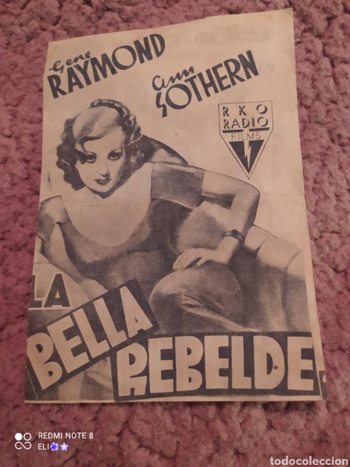FOLLETO DE MANO DOBLE LA BELLA REBELDE , GENE RAYMOND , ANN SOTHERN , CINE MUNDIAL (Cine - Folletos de Mano - Drama)