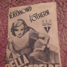 Cine: FOLLETO DE MANO DOBLE LA BELLA REBELDE , GENE RAYMOND , ANN SOTHERN , CINE MUNDIAL. Lote 254990895