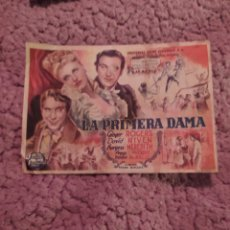 Cine: FOLLETO DE MANO LA PRIMERA DAMA AÑO 1947 CINE MUNDIAL. Lote 254992805