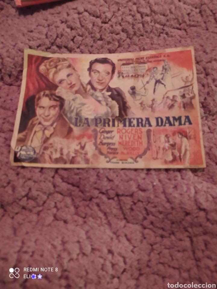 FOLLETO DE MANO LA PRIMERA DAMA AÑO 1947 CINE MUNDIAL (Cine - Folletos de Mano - Drama)