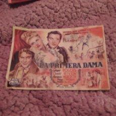 Cine: FOLLETO DE MANO LA PRIMERA DAMA AÑO 1947 CINE MUNDIAL. Lote 254992880
