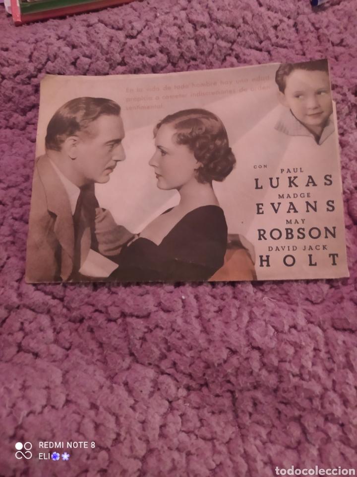 Cine: Folleto de mano doble LA EDAD INDISCRETA año 1936 mundial cine - Foto 2 - 254994040