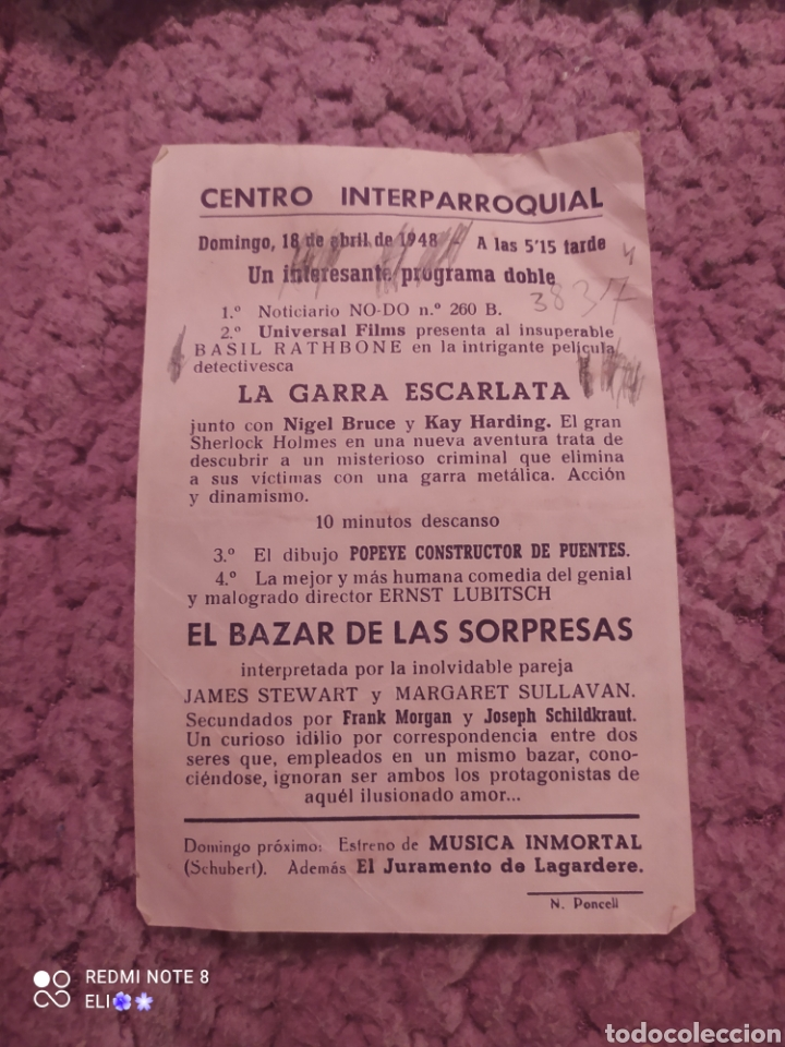 Cine: Folleto de mano EL BAZAR DE LAS SORPRESAS - Foto 2 - 255006650